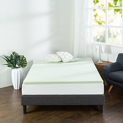 Zinus 1 5 Inch Green Tea Memory Foam Mattress Topper Twin 20 39 Memory Foam Mattress Topper Mattress Topper Best Mattress