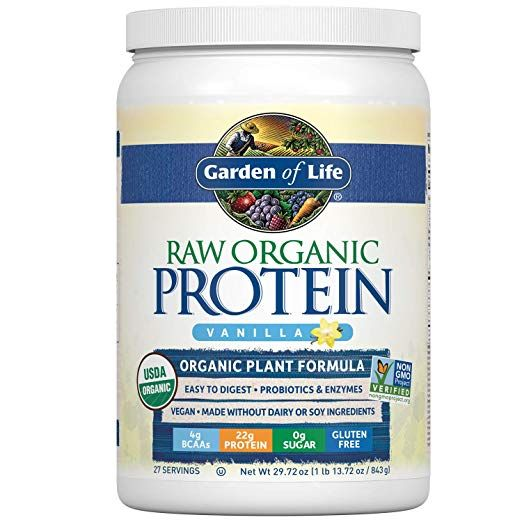 Amazon Com Garden Of Life Raw Organic Protein Vanilla Powder 20