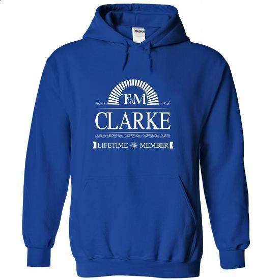 Team CLARKE Lifetime Member - #shirt for women #floral shirt. BUY NOW => https://www.sunfrog.com/Names/Team-CLARKE-Lifetime-Member-cjoyqbsced-RoyalBlue-35255381-Hoodie.html?68278