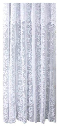 ricardo romance lace white lace fabric shower curtain with an attached valance 72 x 72 long by. Black Bedroom Furniture Sets. Home Design Ideas