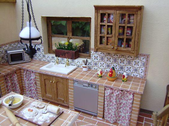 Cortinas de cocina rusticas 2 cocina rustica pinterest - Cocinas de obra rusticas fotos ...