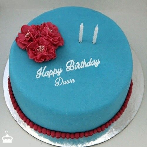 Happy Birthday Dawn Ice Cream Cake Cake Name Elegant Birthday
