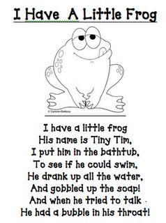 frog stuff and poem