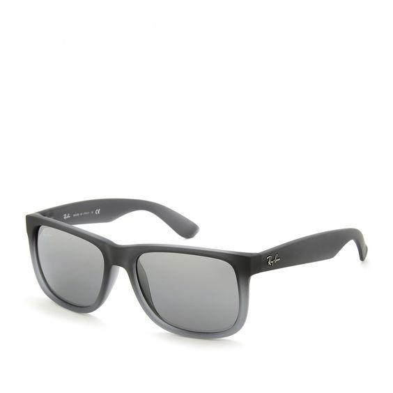 ray ban outlet usa  ray ban justin rubberized with mirrored gradient grey lenses