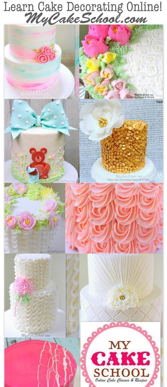 Learn Cake Decorating Online With My Cake School Learn Cake Decorating Cake Decorating Tutorials Cake Decorating