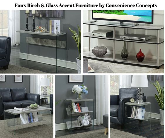 Faux Birch Accent Furniture by Convenience Concepts
