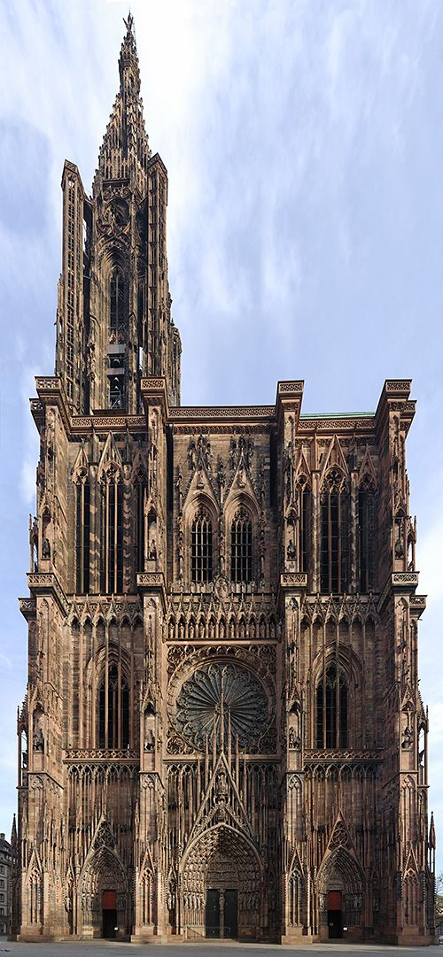 "France. Strassbourg Cathedral. ""The largest clock you'll probably ever see is inside. It's amazing to watch it working."""
