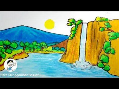 15 Lukisan Pemandangan Indah Dari Pensil Cara Menggambar Pemandangan Air Terjun Download Melukis Gambar Sketsa Lukisan Pema Pemandangan Lukisan Air Terjun