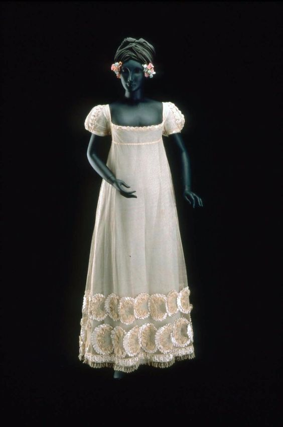 White Tulle Wedding Dress Possibly French Worn In America 1815 20