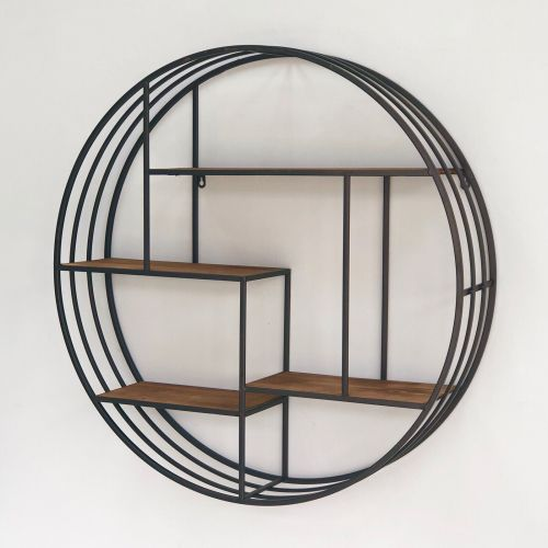 Round Metal Shelf Shelves Metal Shelves Round Shelf