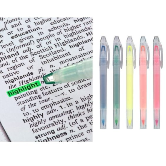 Double Ended Highlighters - for prescision highlighting and much easier to hold and use than the typical small flat ones every office has.