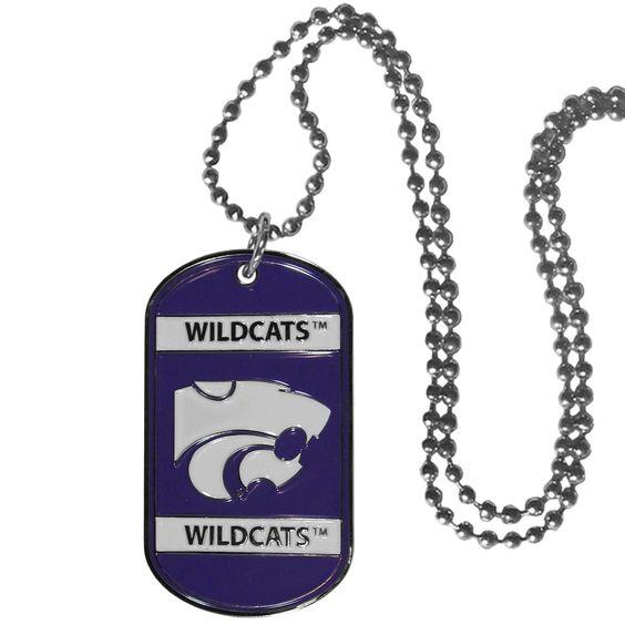 Kansas St. Wildcats Tag Necklace