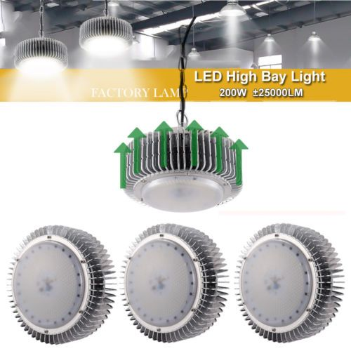 4x 200w Led High Bay Light Warehouse Industrial Factory Lamp Roof Shed Lighting Ebay Link High Bay Lighting Light Workshop Shed
