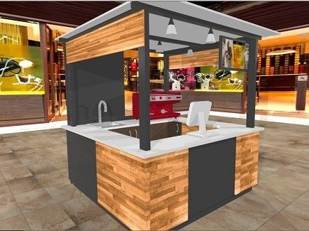 Kioscos comerciales kioskos kioscos para centros for Kioscos prefabricados de madera