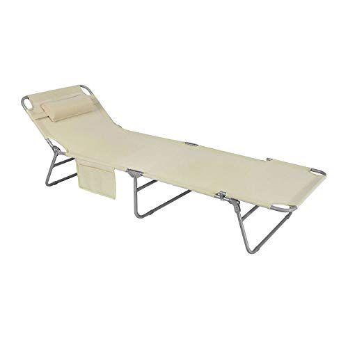 Sobuy Ogs35 Mi Chaise Longue Bain De Soleil Transat De Jardin Pliant Chaise De Camping Inclinable Pliable Et Reglable Beige Bain De Soleil Transat Chaise De Camping Transat Jardin