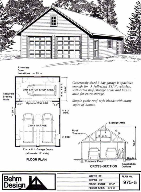 Room In Attic Truss Design: Shops, Cars And Shop Plans On Pinterest
