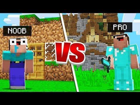 Minecraft Pe Noob Vs Pro Noob House Vs Pro House Noob Minecraft Pe Minecraft