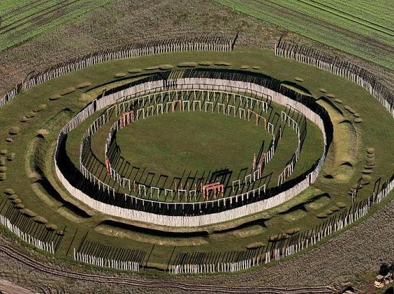 """Sun Observatory & temple """"Ringheiligtum"""" Pömmelte, Sachsen-Anhalt, Germany. Built from around 2300 B.C..Astrogeographic position: located in fire sign Sagittarius sign of time-measurement, druid culture, initiation, fire sacrifice, circles, ornamentation, playgrounds. 2nd coordinate in spiritual water sign Pisces sign of temples, imagination. legend, illusions, reconnection with the spiritual plane and the dream world. FL4."""