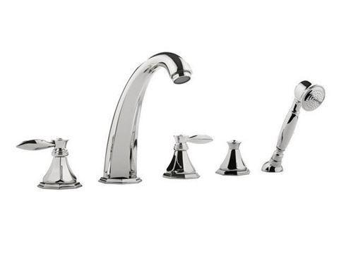 Graff Topaz Roman Tub Faucet With Handshower With Images Roman Tub Faucets Faucet Tub And Shower Faucets