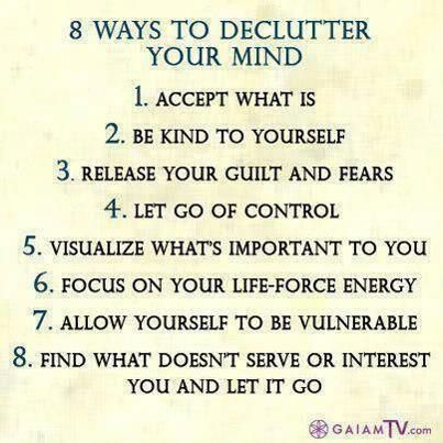 what do you need to do to declutter?