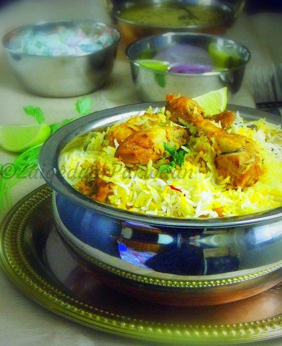 Hyderabadi Chicken Dum Biryani  #biryani #Indianfood #hyderabadicuisine #chicken #rice #spices #authentic