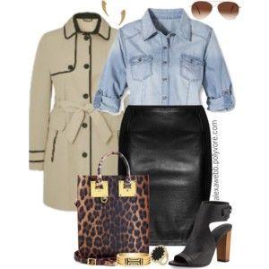 Plus Size Fashion - Leather Skirt