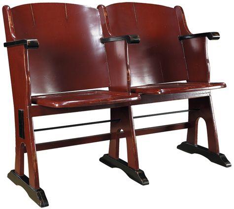 Roxy Theatre Love Seat - Red