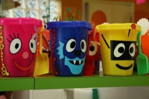 buckets for party favors