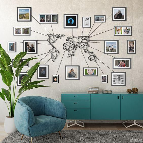 déco carte du monde Déco Métal Carte Monde en 2020   Décoration murale salle à manger