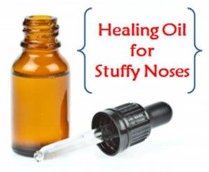 This oil clears stuffy noses and lubricates dry sinuses.