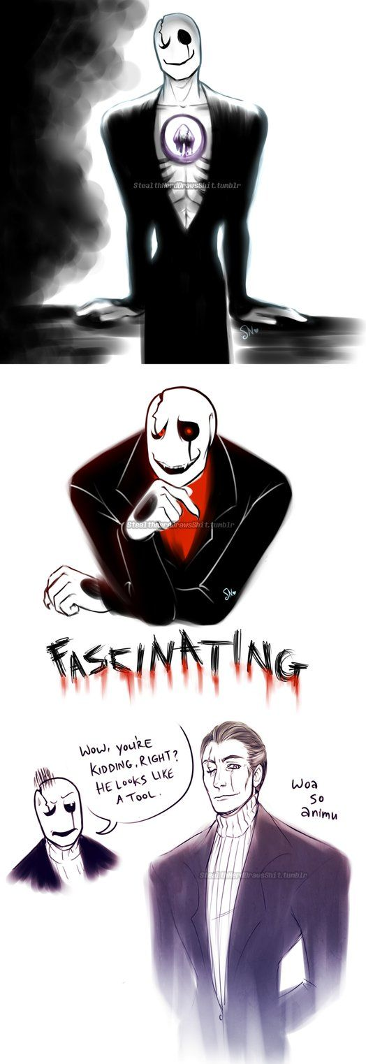 """based on NO GASTER WHAT DID YOU DO THAT'S NOT HOW SKELETONS ARE SUPPOSED TO WORK lmao how is this the only dadster thing I've ever done my dad walks in like """"why is that clown mime thing hold..."""