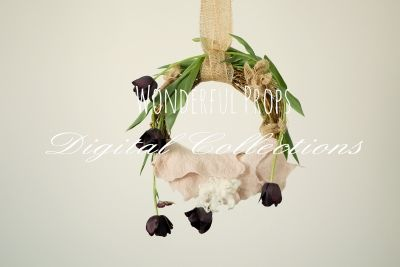 Wonderful Props - Holland Hanging Swing - Digital Backdrop - Photo Prop for Newborn Photography