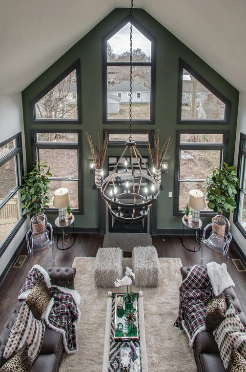 Vaulted Ceiling Living Room Vaulted Ceiling Living Room Gray Accent Wall Bedroom Accent Walls In Living Room
