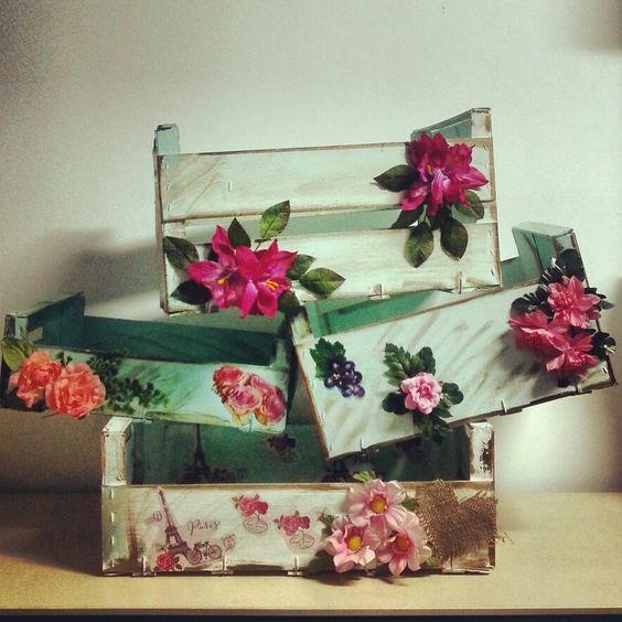 Cajas de frutas decoradas cositas hechas a mano pinterest - Cajas de fruta ...