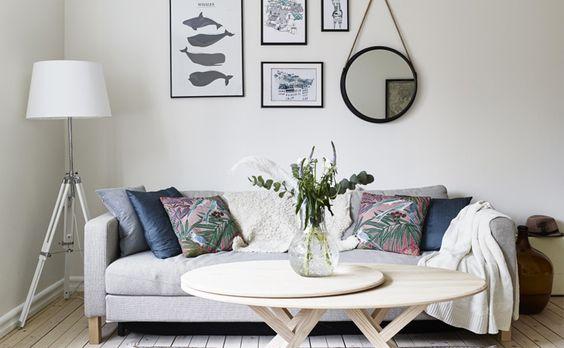 Une Déco Scandinave Douce Et Féminine | Salons, Living Rooms And Balconies