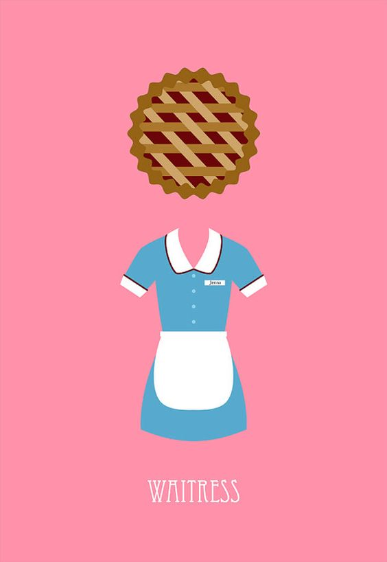 Waitress movie poster postcard 4'X6' by LiveitupS2 on Etsy