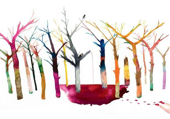 David Choe watercolor art painting