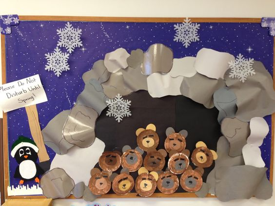 """Do not disturb until spring""  The bears are hibernating in Mrs.Walker's class at Benson Memorial UMC Preschool.:"