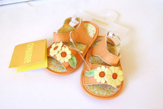 NWT Gymboree Prairie Ranch Peach Flower Sandals Shoes Sz 3  6-12 Months #Gymboree #Sandals