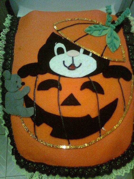Juegos De Baño Halloween:JUEGO DE BAÑO HALLOWEEN EN FIELTROBy Elvia Padilla Contacto: elii