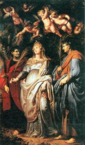 St. Domitilla with St. Nereus and St. Achilleus - Peter Paul Rubens: