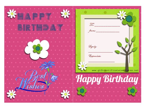 Birthday Gift Certificate Templates by www - happy birthday certificate templates