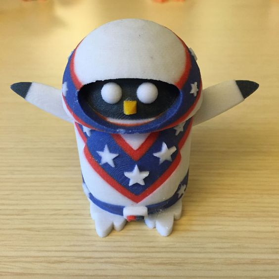 Peter the Penguin as Eval Knieval - 3D Printed model from Tinkercad