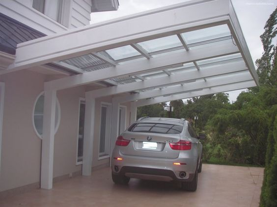 Built On Garage Shade Canopy : Gallactically pleasant carport design pictures from