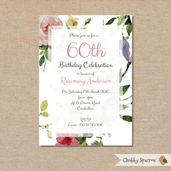 Einladung zur Geburtstagsfeier 40. 50. 60. 70. von ChubbySparrow