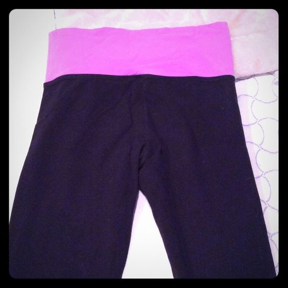 Yoga pants Victoria's Secret catalogue Cute pinkish/ purple Victoria's secret yoga leggings, great for going out or working out  :) Victoria's Secret Pants Leggings