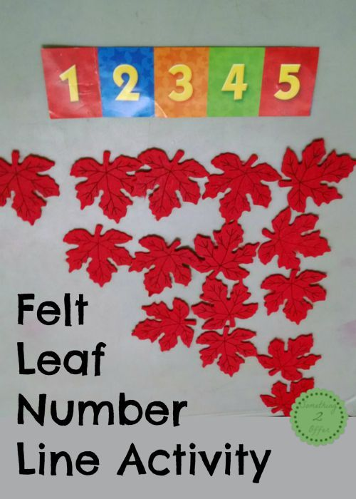 Felt Leaf Number Line Activity - | Felt Leaves, Number Lines and ...