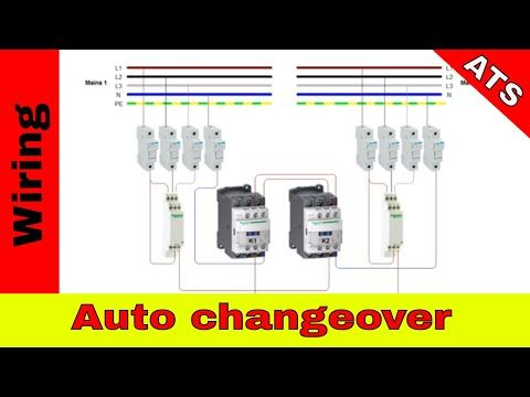 How To Wire Simple Automatic Changeover Ats Youtube Transfer Switch Circuit Diagram Light Sensor