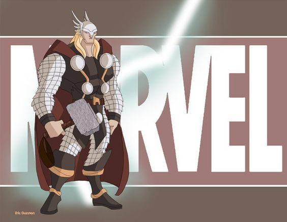 Thee Thor  by *EricGuzman: Art Work, Comic Graphic Novel, Art Comic, Comics Marvel, Geek Art, Ericguzman S Deviantart, Deviantart Gallery, Comic Art, Bd Avengers