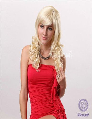 BLONDE CURLY SYNTHETIC WIGS WHOLESALE ONLINE